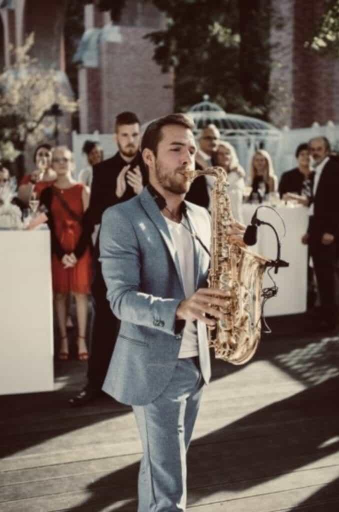 Hochzeitssaxophonist Saxoben - Hochzeitsband Österreich